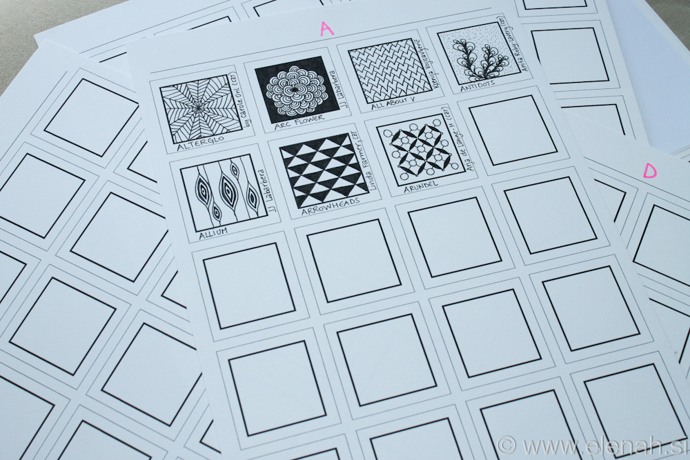 Day 107 - Zentangle pattern organization