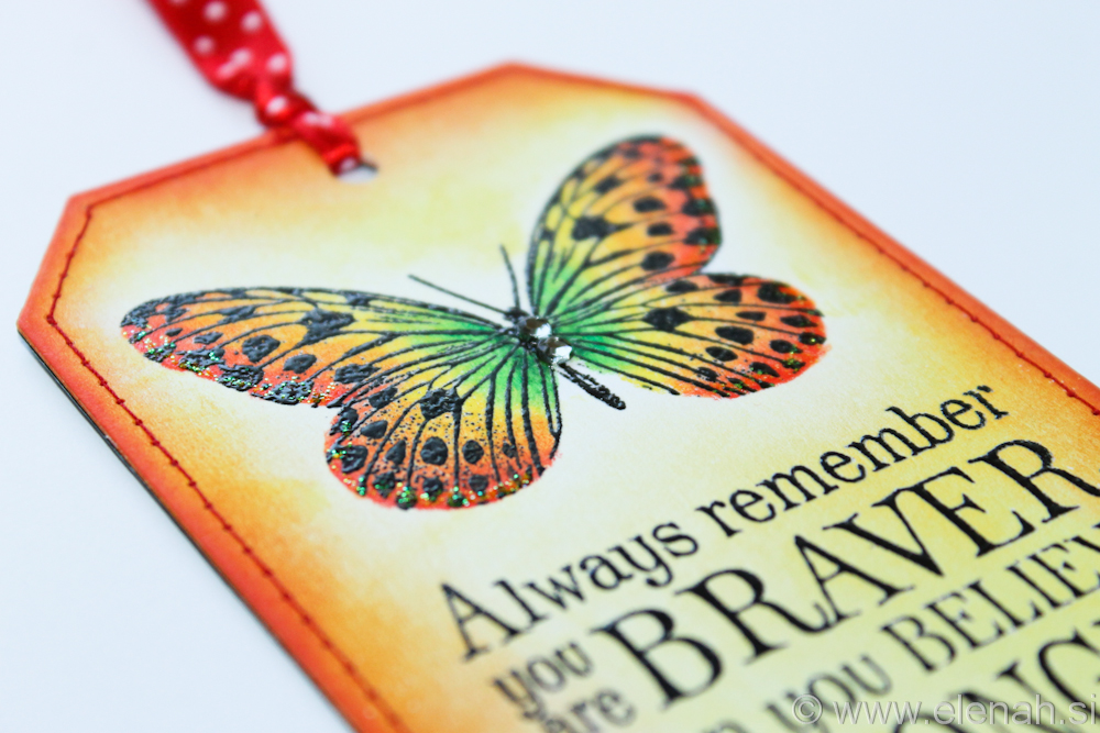 Day 111 butterfly bookmark with stiches 2