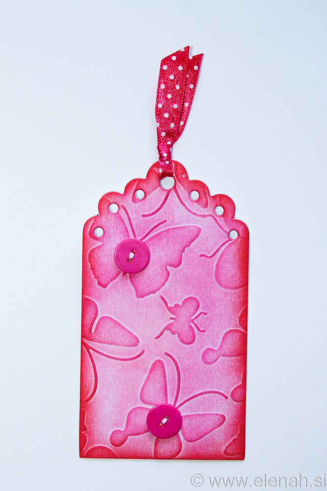 Day 133 pink lace butterfly bookmark 1