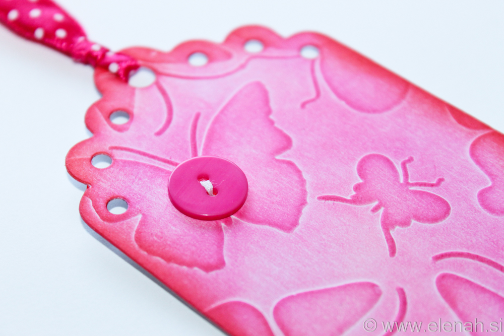 Day 133 pink lace butterfly bookmark 3