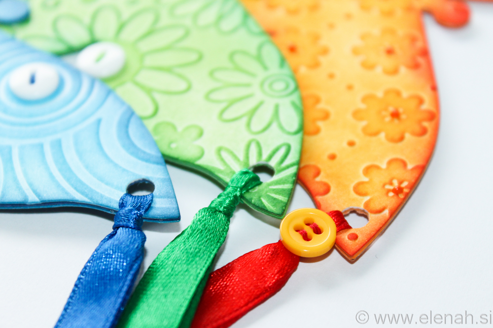 Day 138 butterfly embossed bookmark orange green blue 3