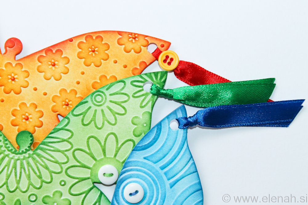 Day 138 butterfly embossed bookmark orange green blue 4
