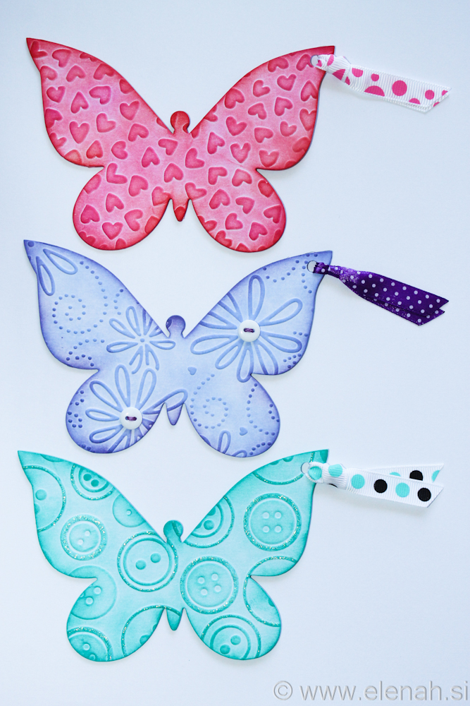 Day 139 butterfly bookmark rose pink purple turquise 1