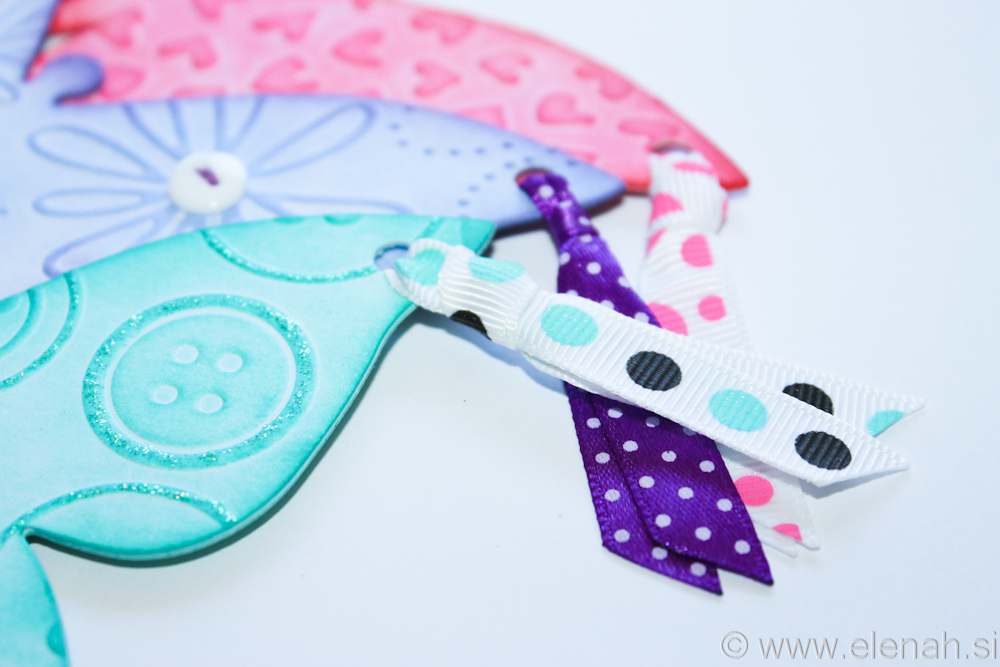 Day 139 butterfly bookmark rose pink purple turquise 2