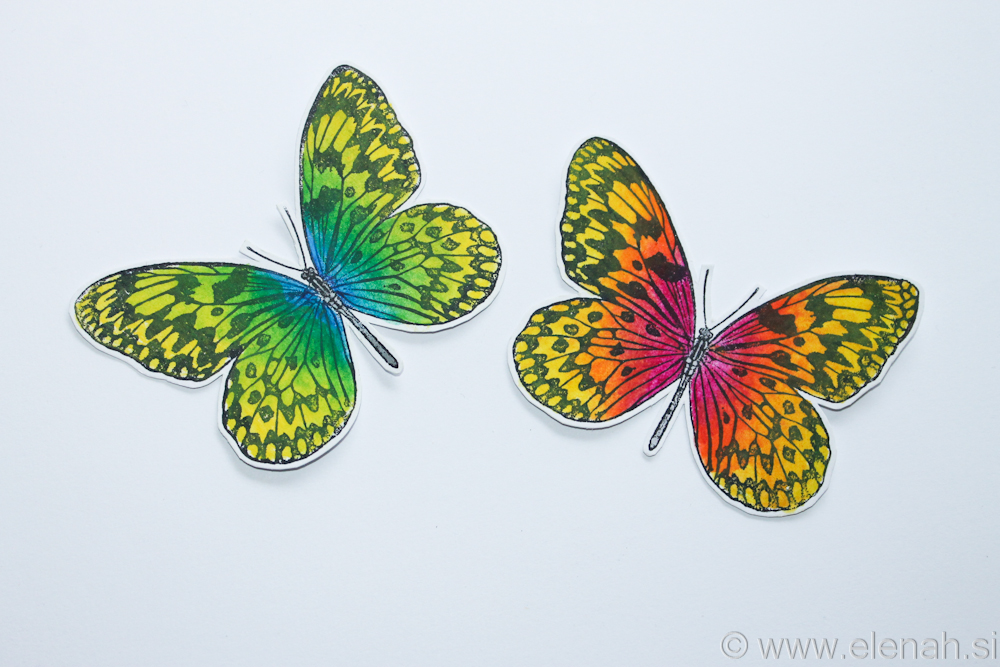 Day 326 butterfly Inktense stamp 1