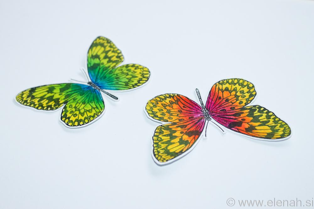 Day 326 butterfly Inktense stamp 2