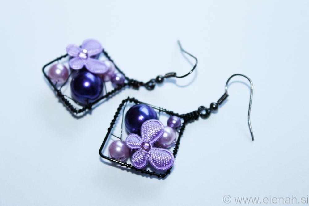 Day 329 butterfly purple earrings