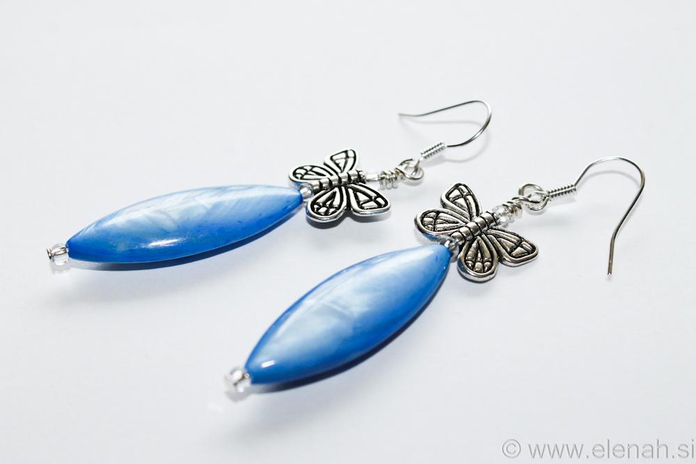 Day 331 blue butterfly shell earrings 2