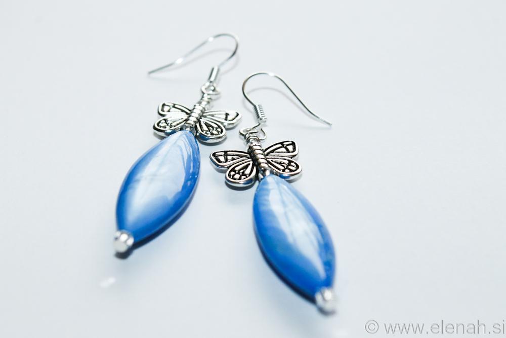Day 331 blue butterfly shell earrings 3