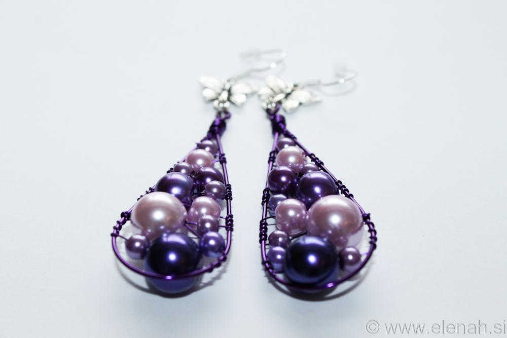 Day 332 purple butterfly wire earrings 3