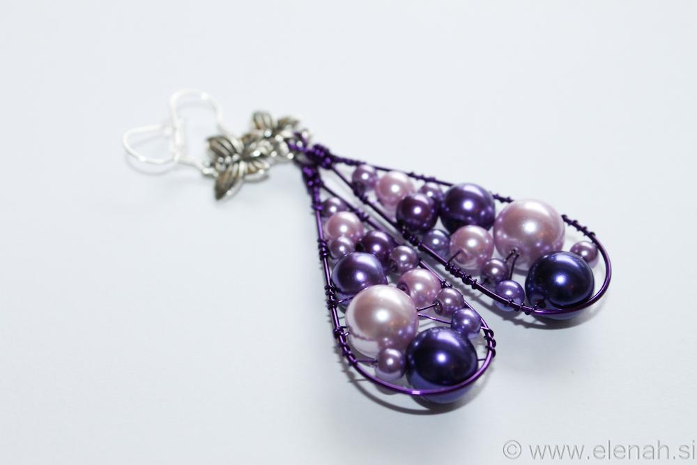 Day 332 purple butterfly wire earrings 4