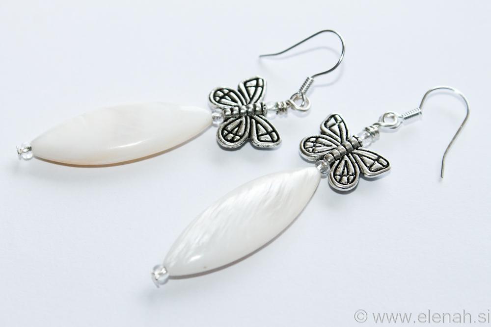 Day 333 butterfly shell earrings 1