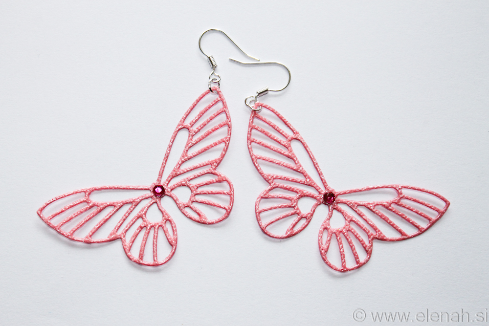 Day 361 butterfly rose earrings 1