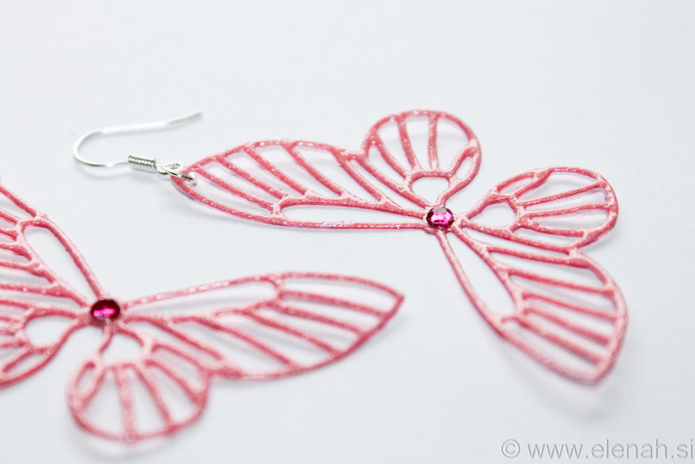 Day 361 butterfly rose earrings 4