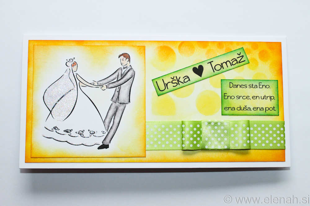 Day 74 wedding card yellow green 1b