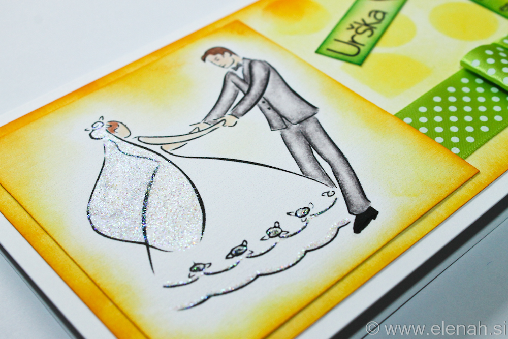 Day 74 wedding card yellow green 3