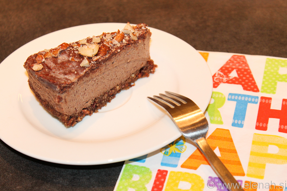 Day 9 raw chocolate hazelnut cake 3