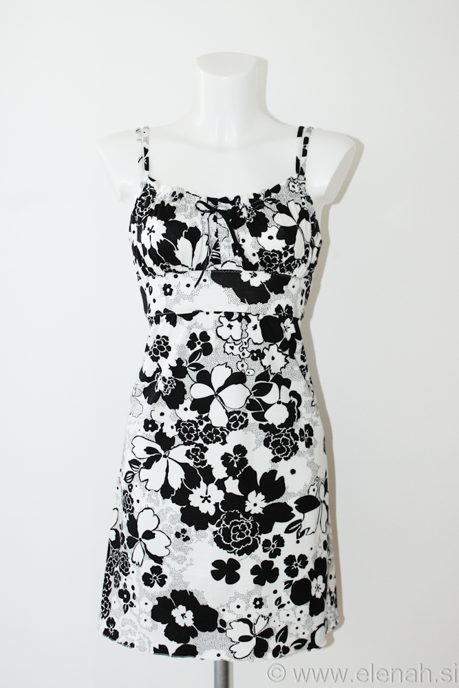 Day 97 flower black and white dress