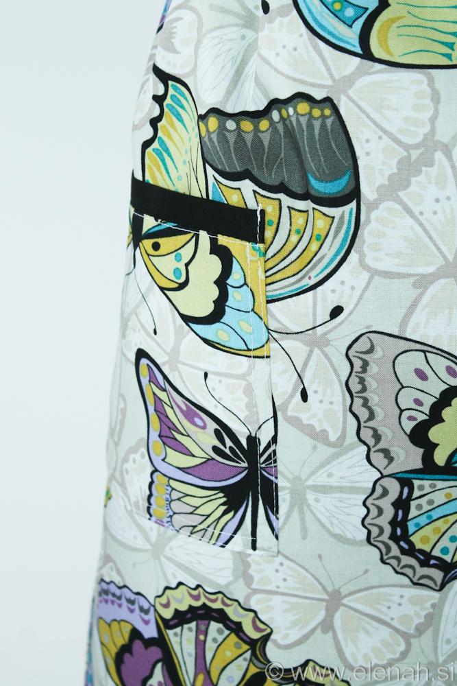 Predpasnik metulji  Butterfly apron 2c