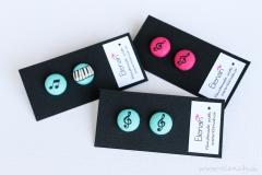 Darilo glasba note glasba klavir ročno delo Elenah blago earrings handmade note music