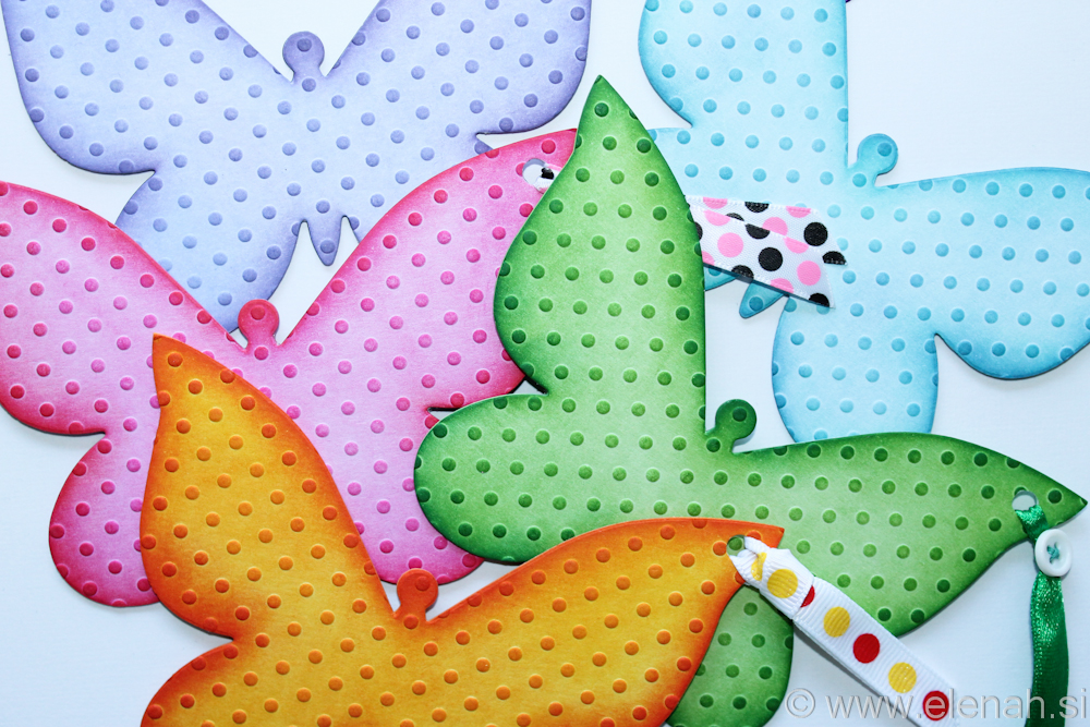 Butterfly bookmark dot embossed mixed 1