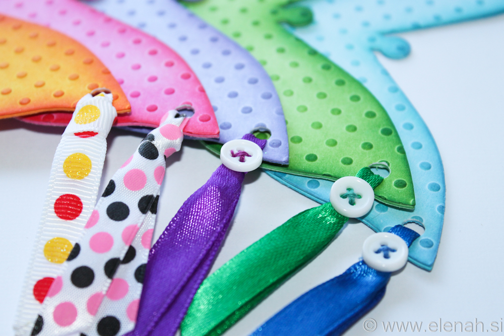 Butterfly bookmark dot embossed mixed 2