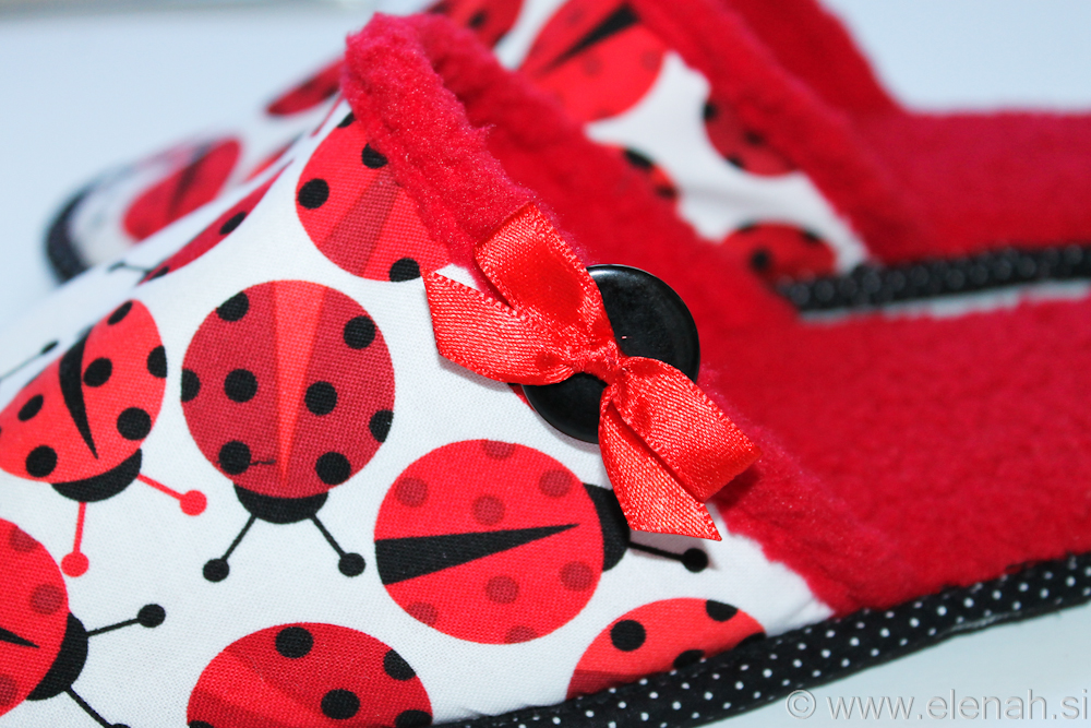 Copatki pikapolonice  Slippers ladybug  1c