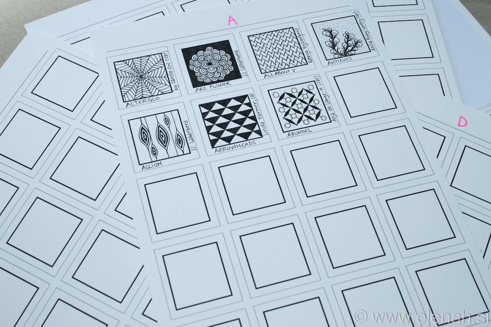 Day 107 - Zentangle pattern organization