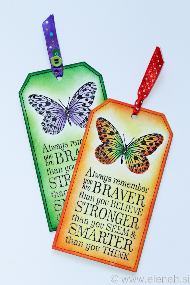 Day 111 butterfly bookmark with stiches 6