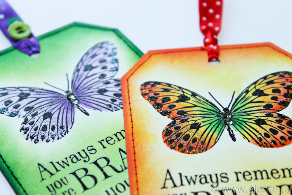 Day 111 butterfly bookmark with stiches 7