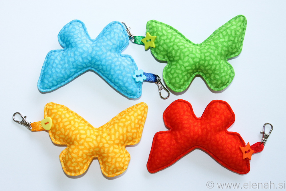 Day 113 fabric butterfly keychain 1