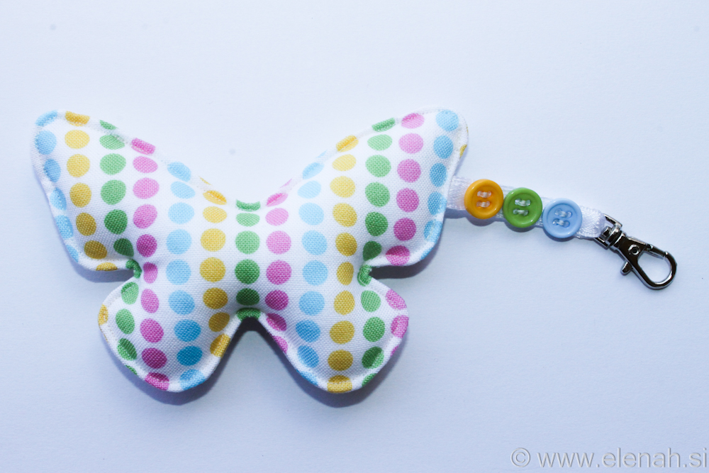 Day 121 butterfly keychain dots 1