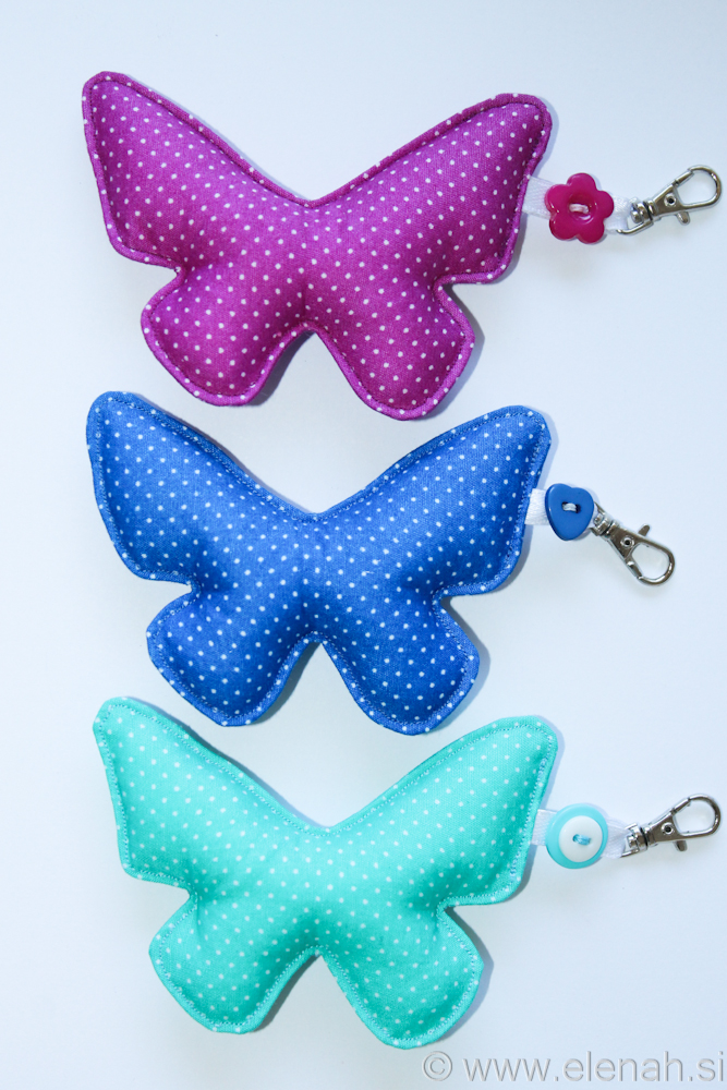 Day 124 butterfly keychain dot fabric 1