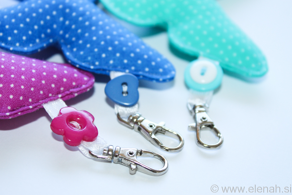 Day 124 butterfly keychain dot fabric 2