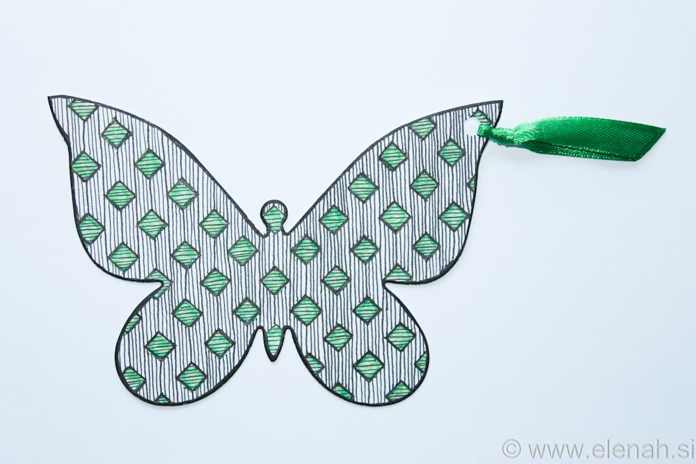 Day 132 Zentangle bookmark 1