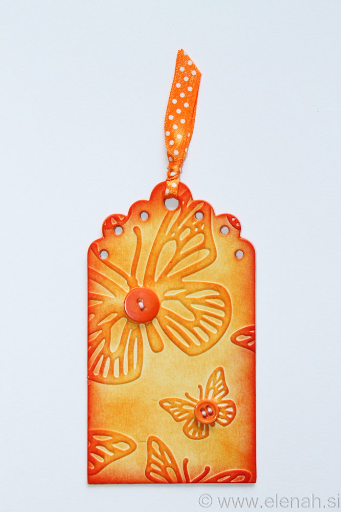 Day 136 orange purple bookmark 1