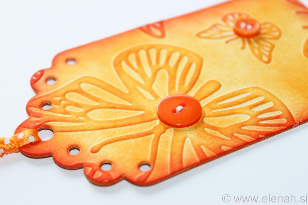 Day 136 orange purple bookmark 2