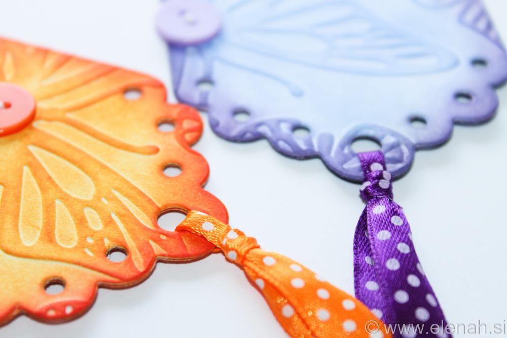 Day 136 orange purple bookmark 5