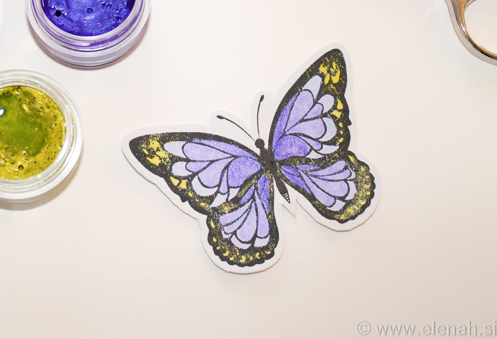 Day 300 butterfly stamp watercolor 1a