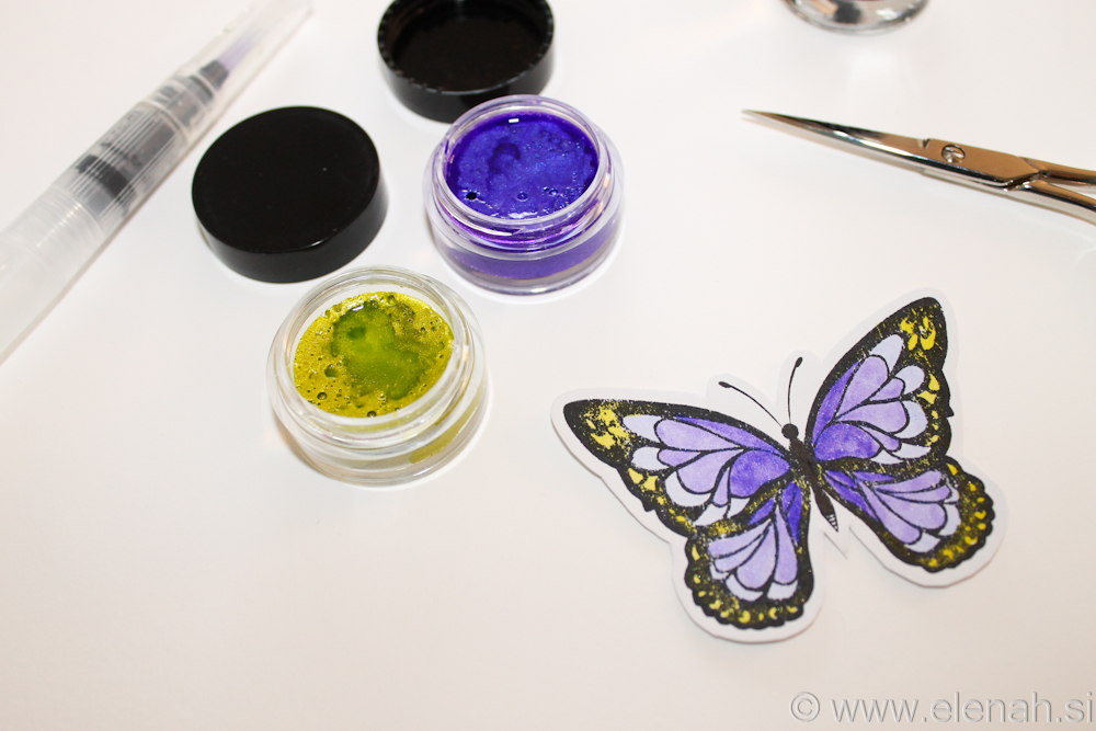 Day 300 butterfly stamp watercolor 2