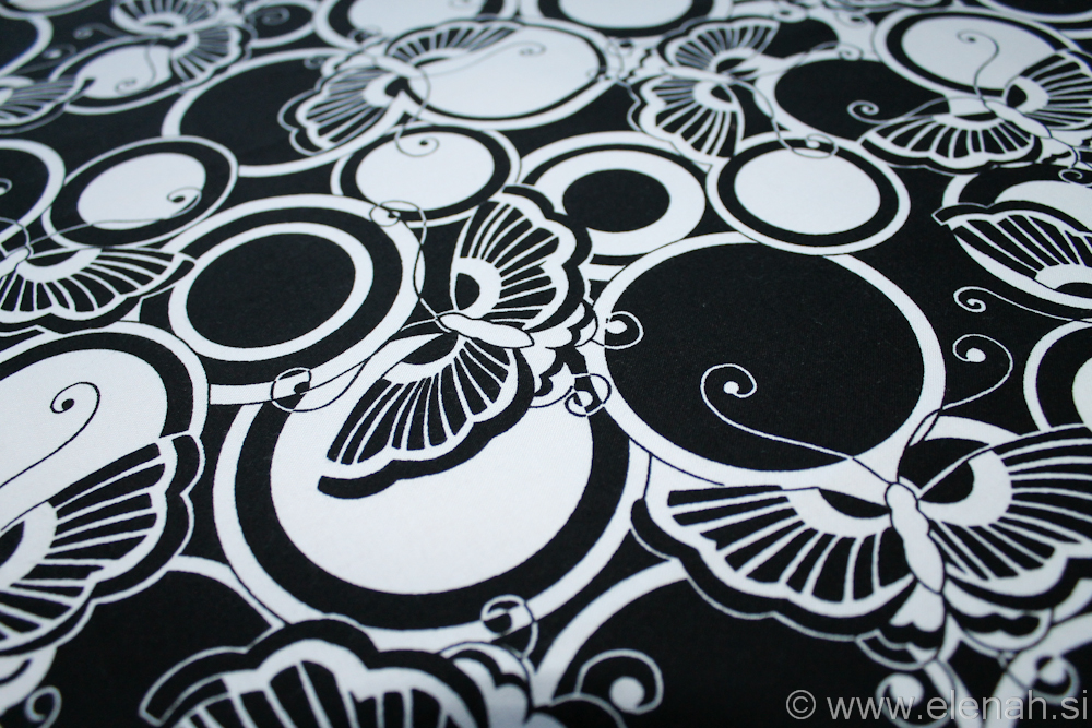 Day 308 Butterfly fabric black and white 2