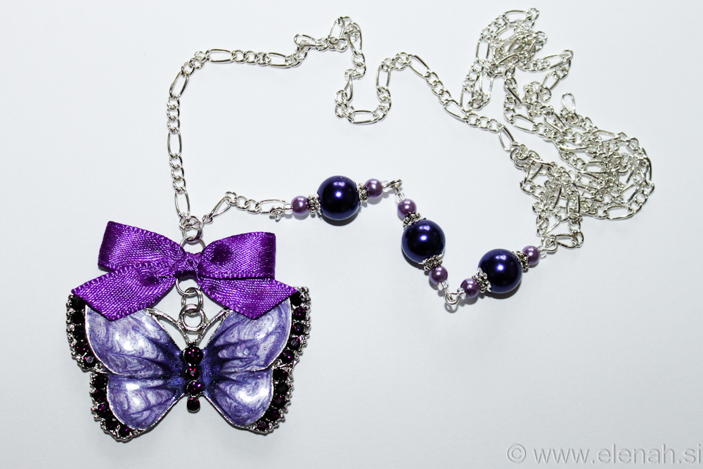 Day 310 purple butterfly necklace 2