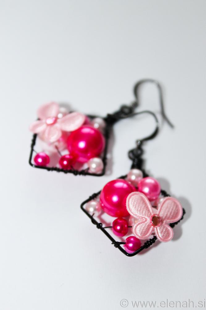 Day 311 pink butterfly earrings 1