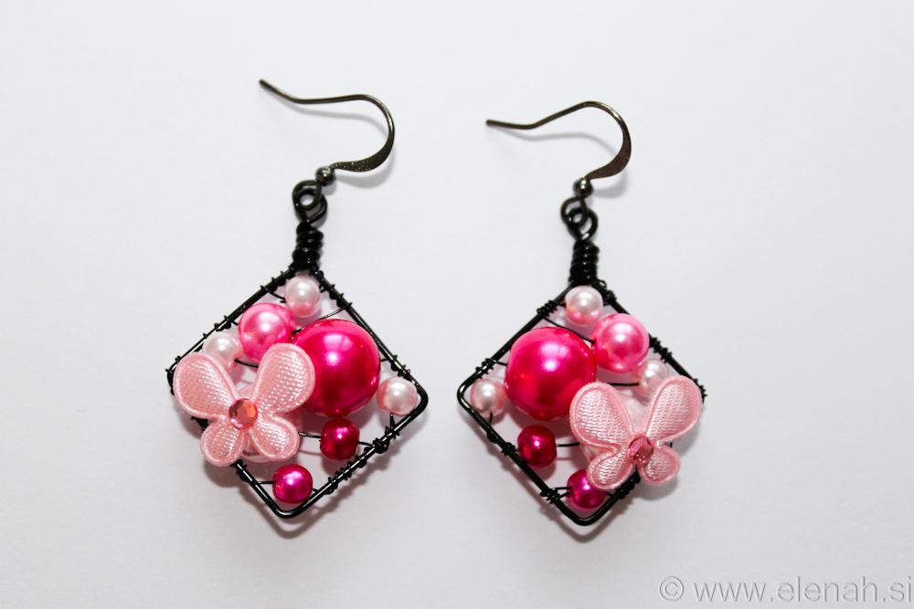 Day 311 pink butterfly earrings 2