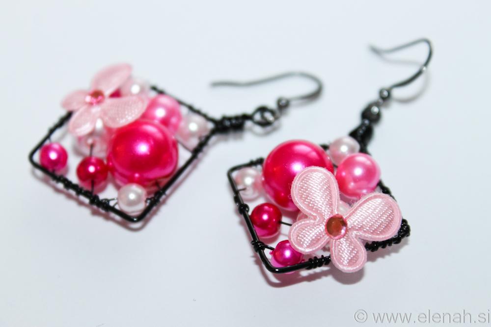 Day 311 pink butterfly earrings 3