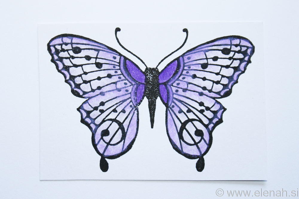 Day 33 butterfly stamp