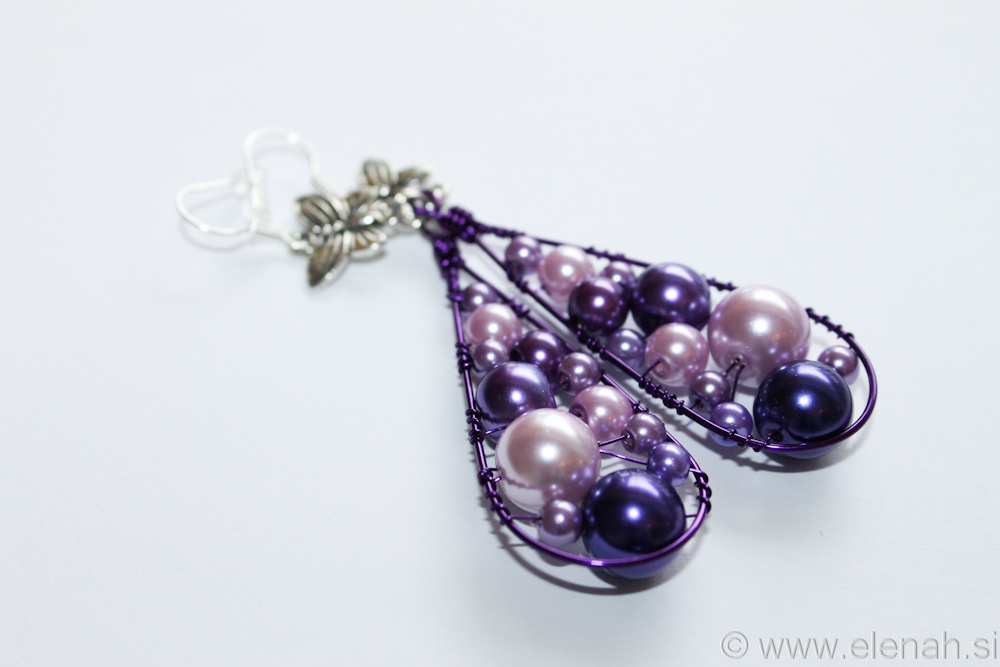 Day 332 purple butterfly wire earrings 4