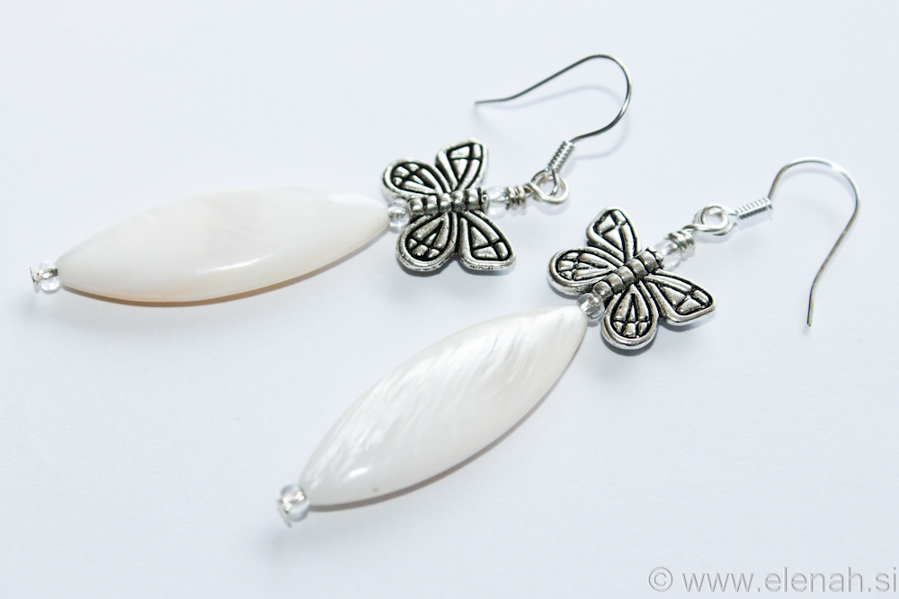 Day 333 butterfly shell earrings 1