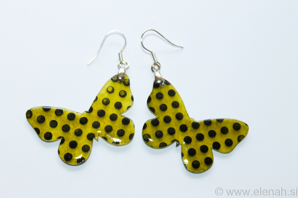 Day 346 plastic butterfly earrings 1