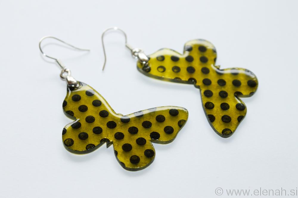 Day 346 plastic butterfly earrings 2
